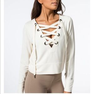 Alo Yoga Lace Up Top